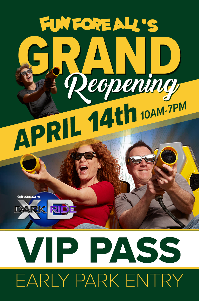 GRAND REOPENING <br> VIP PASSES (FRONT)