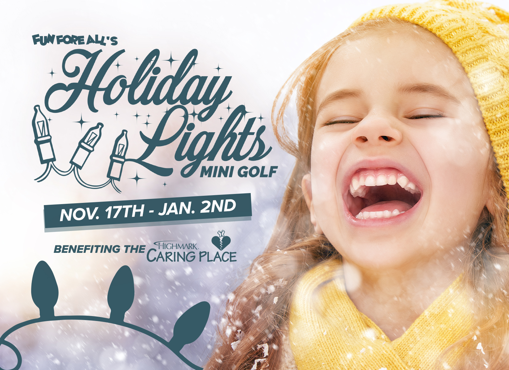 HOLIDAY LIGHTS  POSTCARD - FRONT (2017)