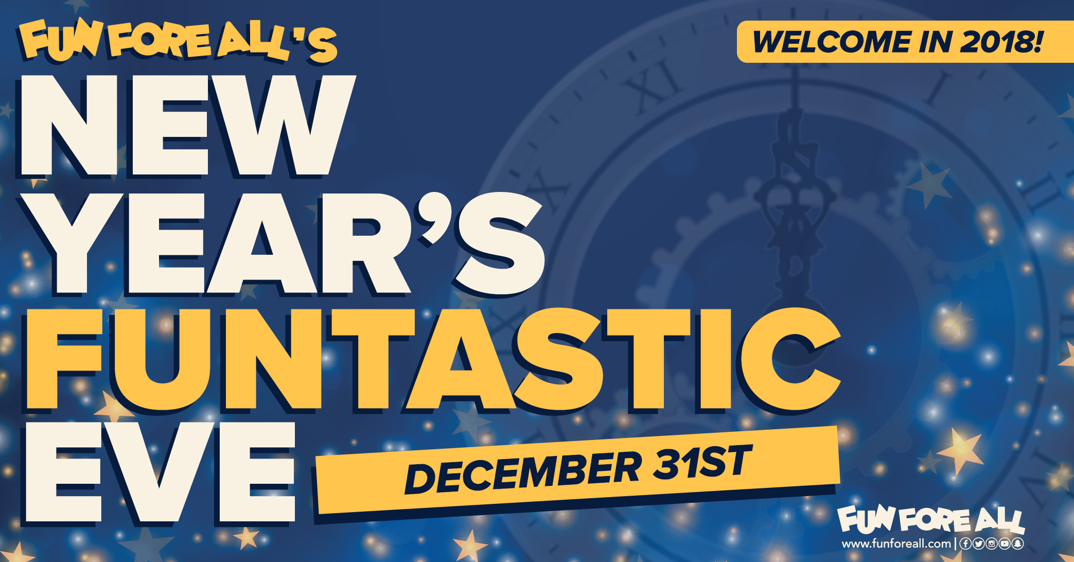 NEW YEAR'S FUNTASTIC  EVE INVITE BANNER (2017)