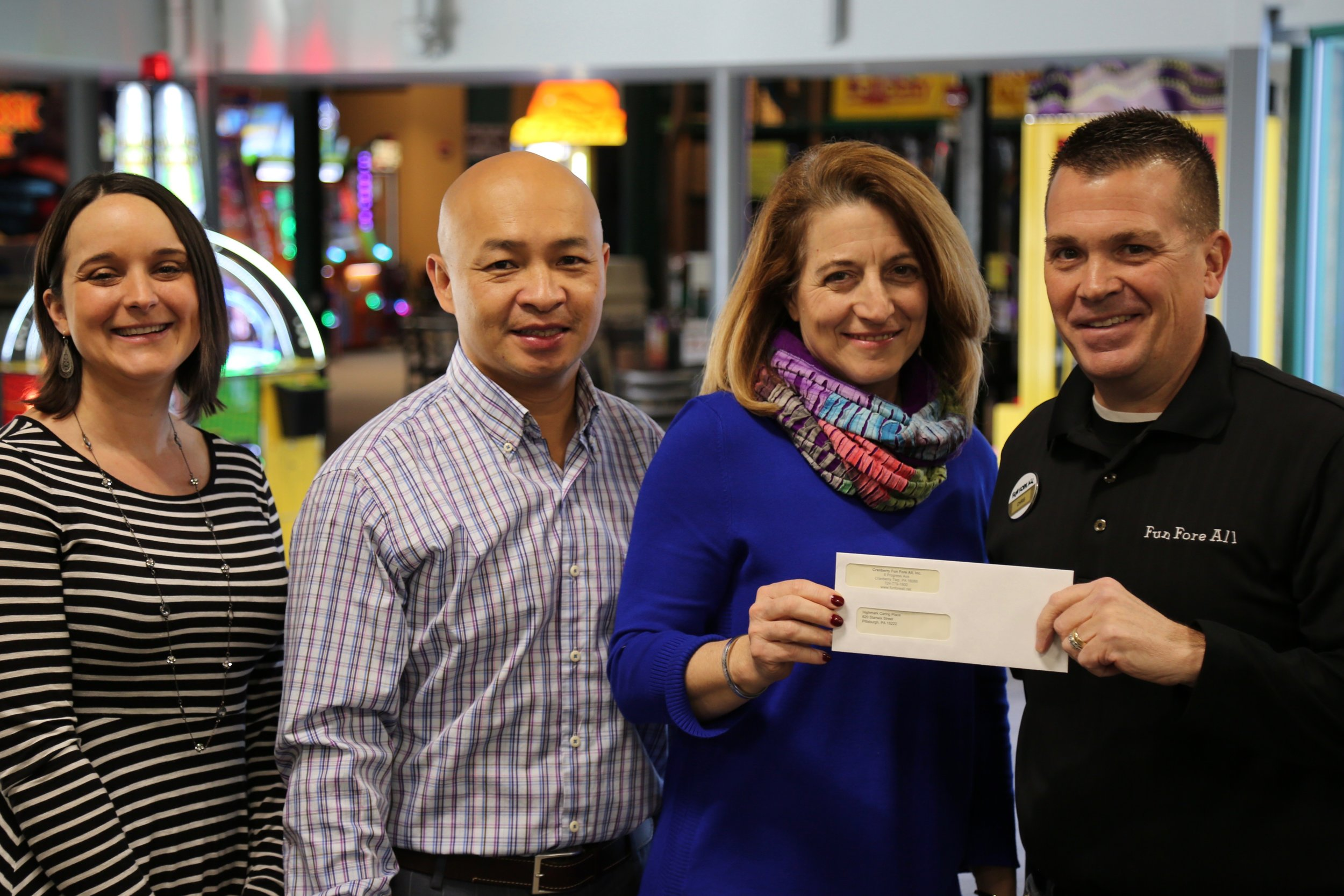 THE CARING PLACE <br> CHECK PRESENTATION