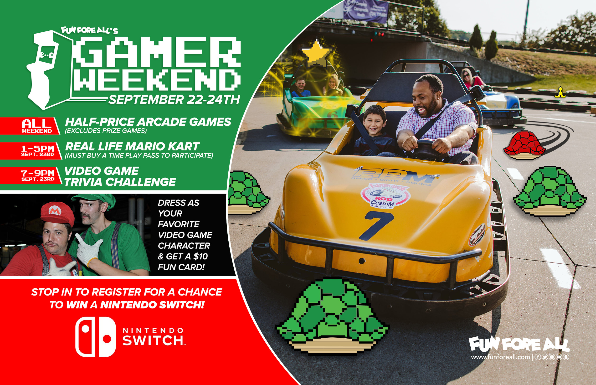 GAMER WEEKEND <br> FLYER (2017)