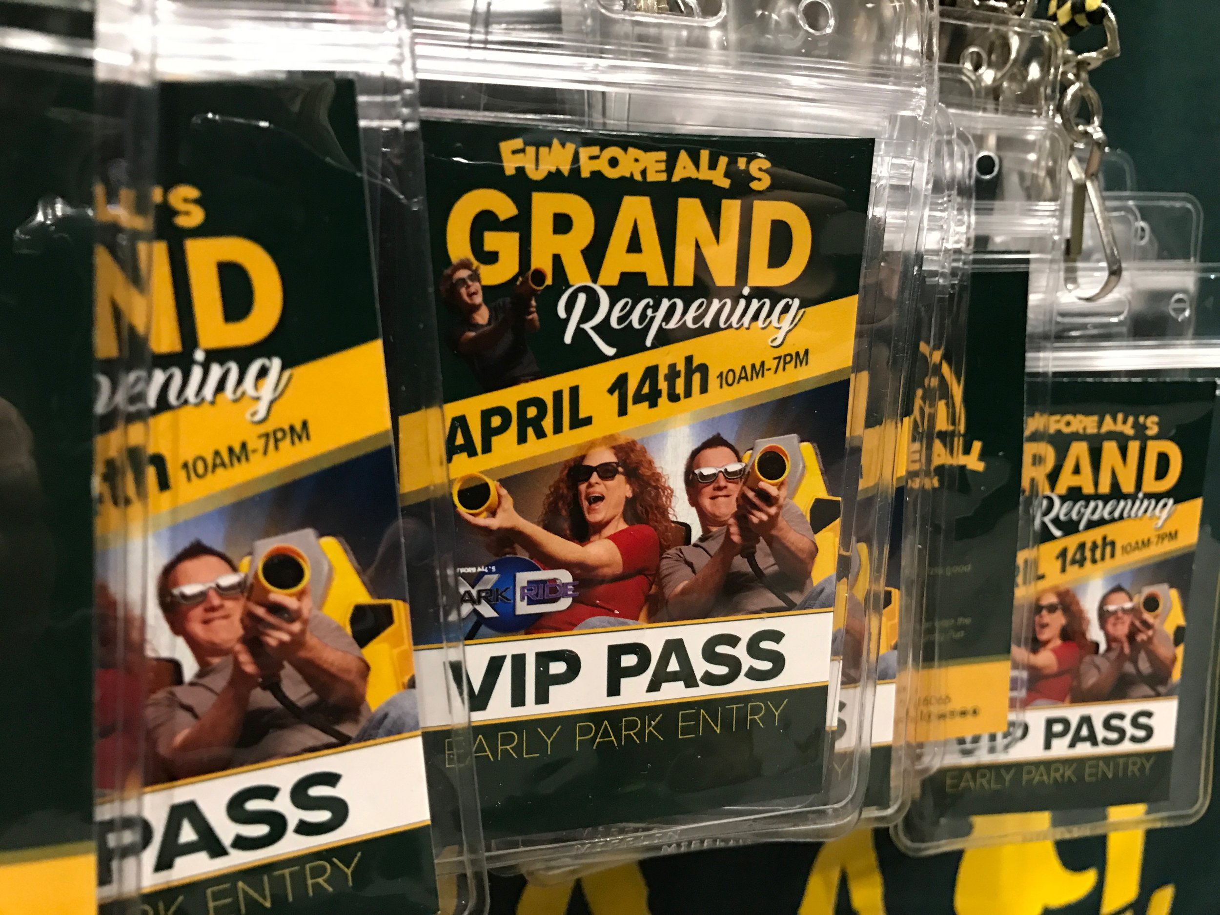 GRAND REOPENING <br> VIP PASSES