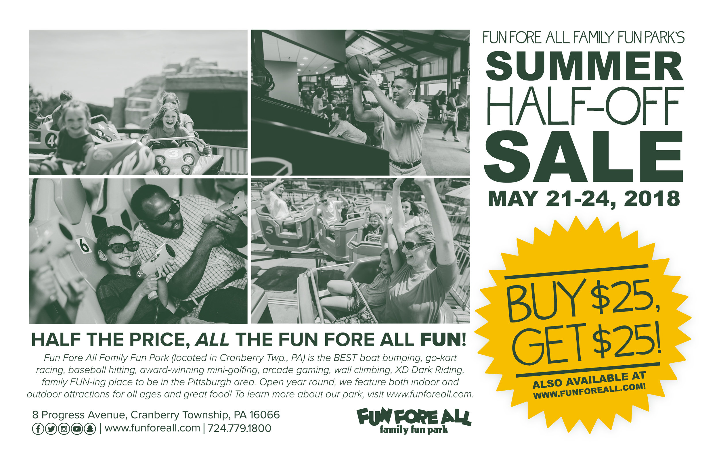 SUMMER HALF-OFF SALE <br> FLYER BACK (2018)