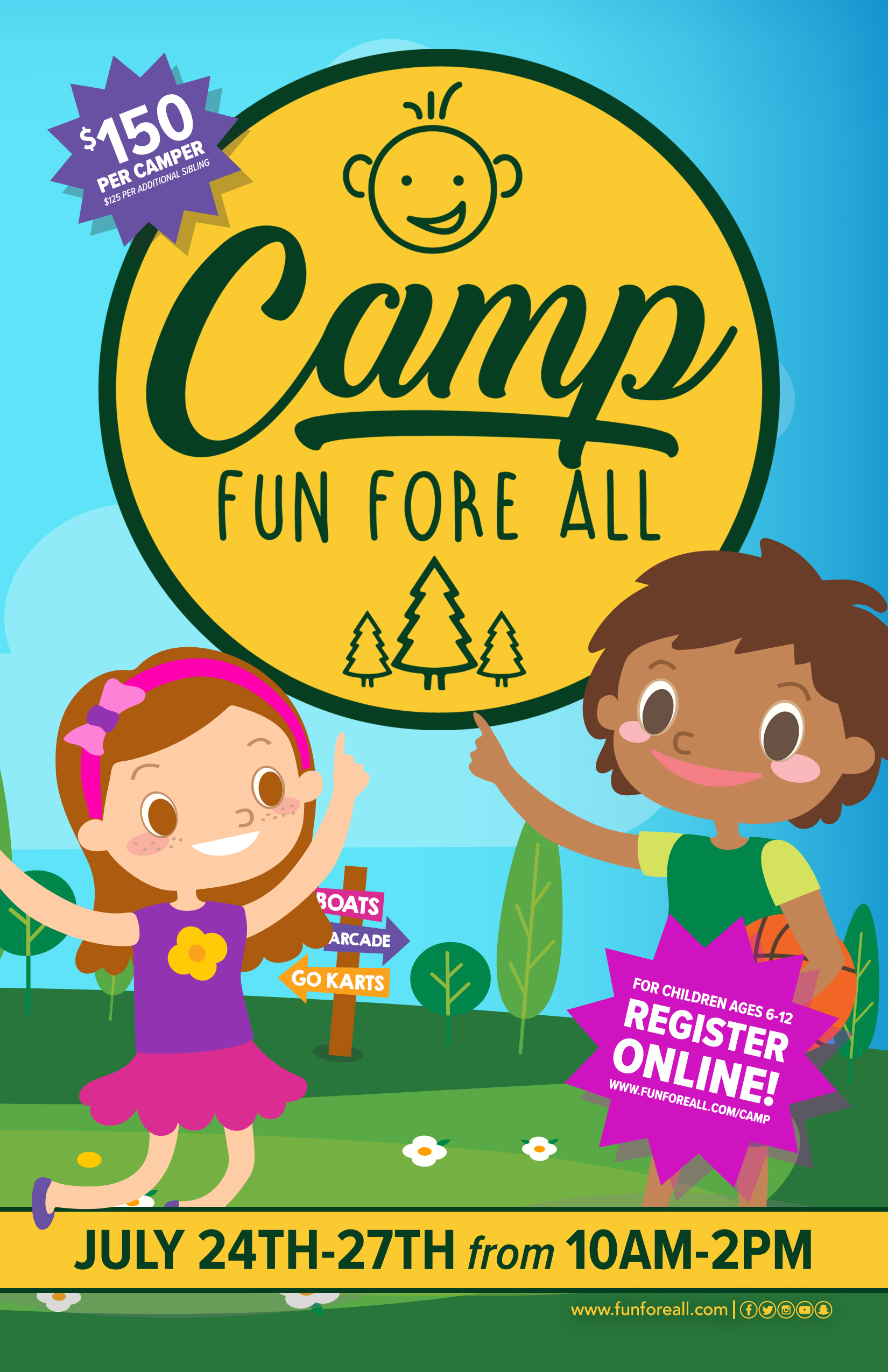 CAMP FUN FORE <br> ALL FLYER (FRONT)