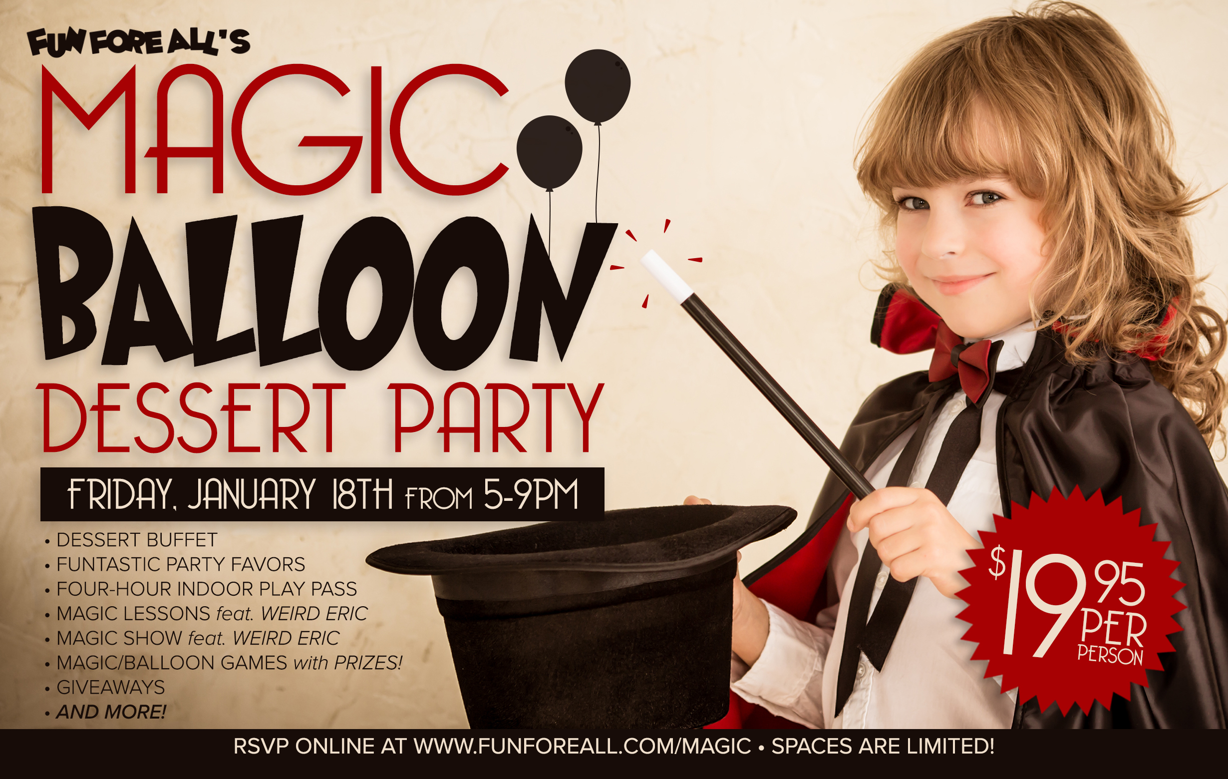 MAGIC BALLOON DESSERT PARTY FLYER (2019)
