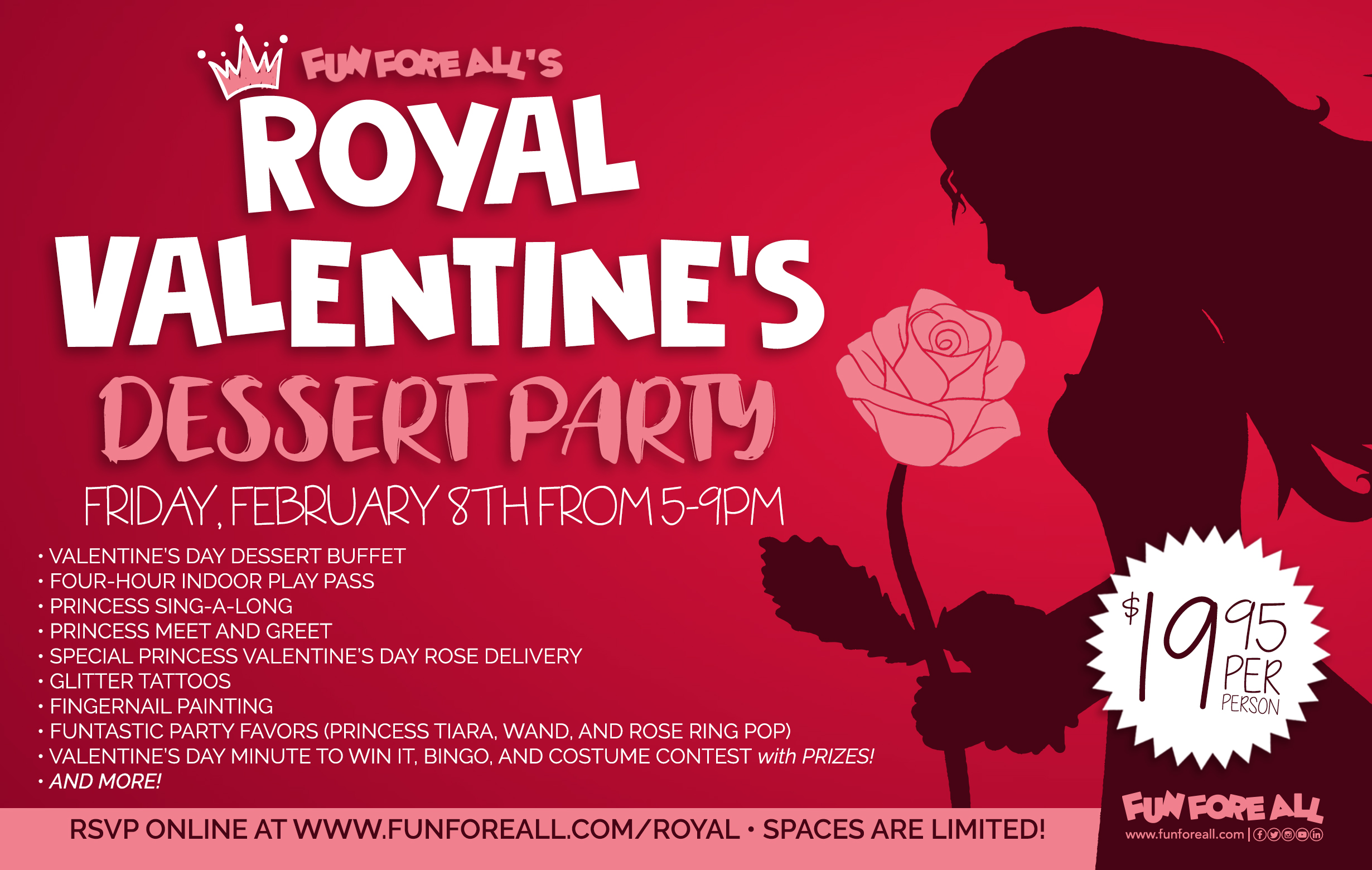 ROYAL VALENTINE'S DESSERT PARTY FLYER (2019)