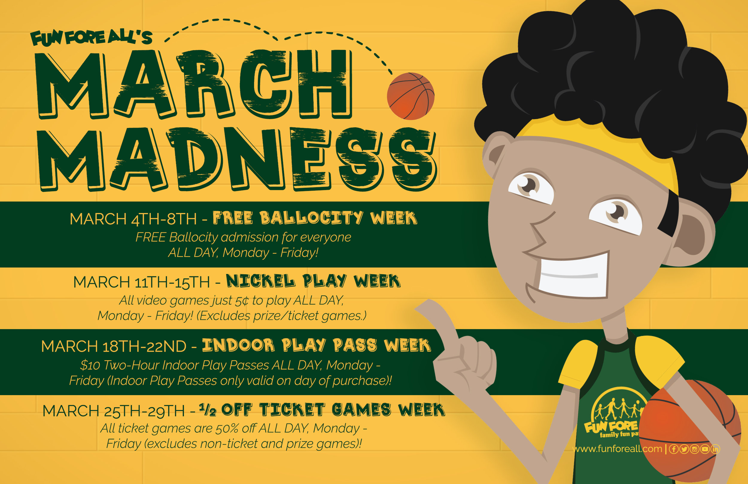 MARCH MADNESS PROMOTIONAL FLYER (2019)