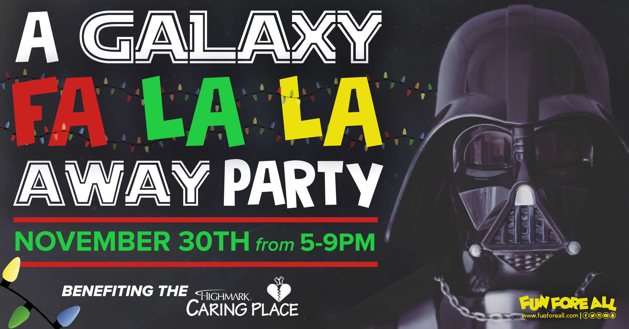 A GALAXY FA LA LA AWAY PARTY INVITE BANNER (2018)