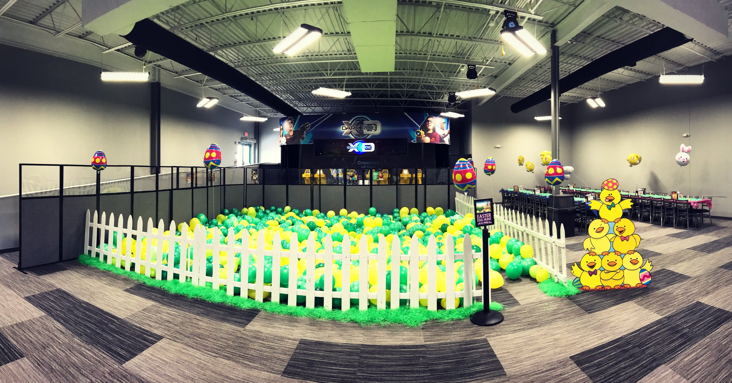 INDOOR EASTER EGG HUNT AREA