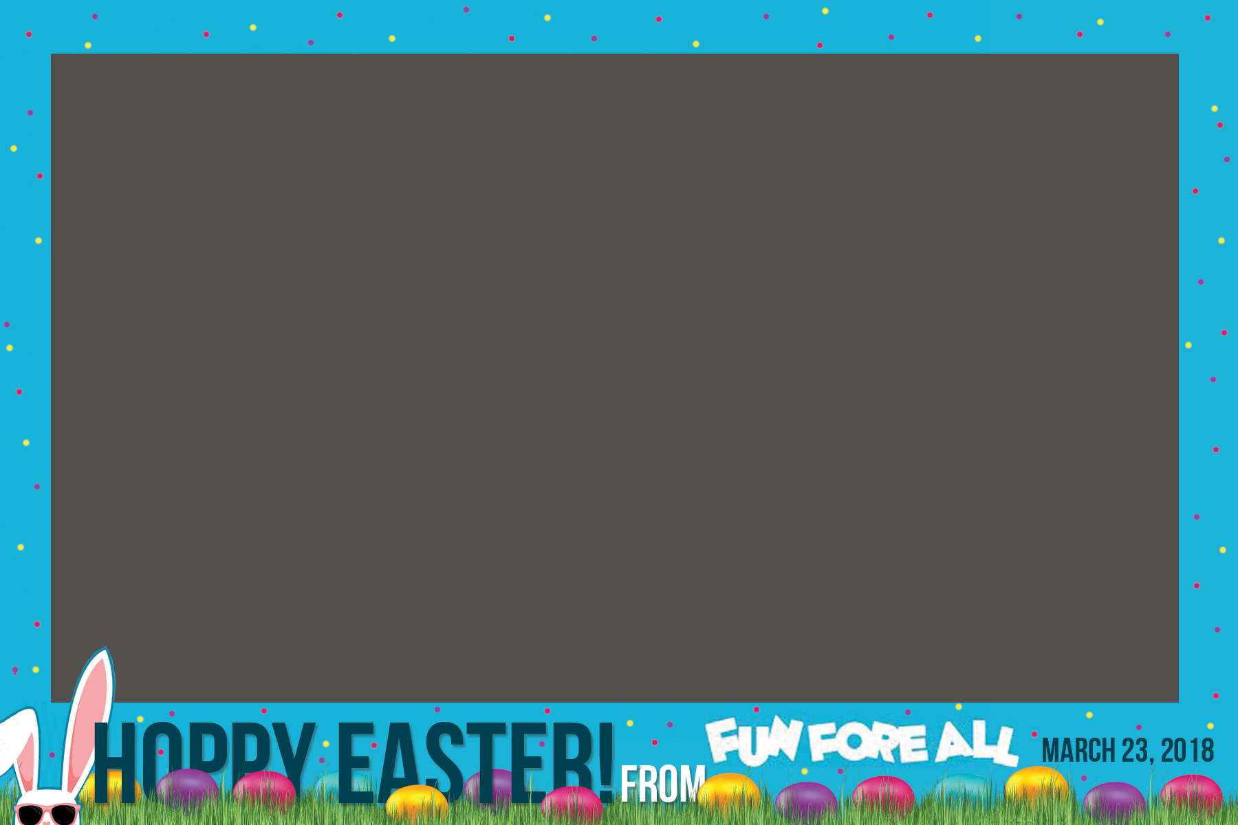 EASTER EGG HUNT PHOTO BOOTH PICTURE FRAME (2018)