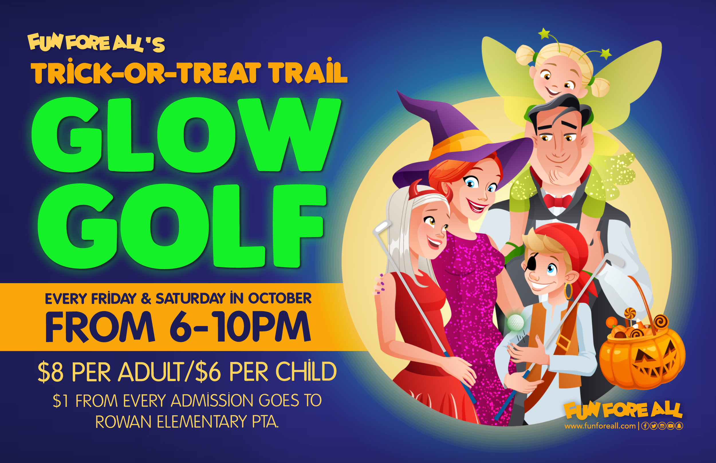 TRICK-OR-TREAT TRAIL GLOW GOLF FLYER (2018)