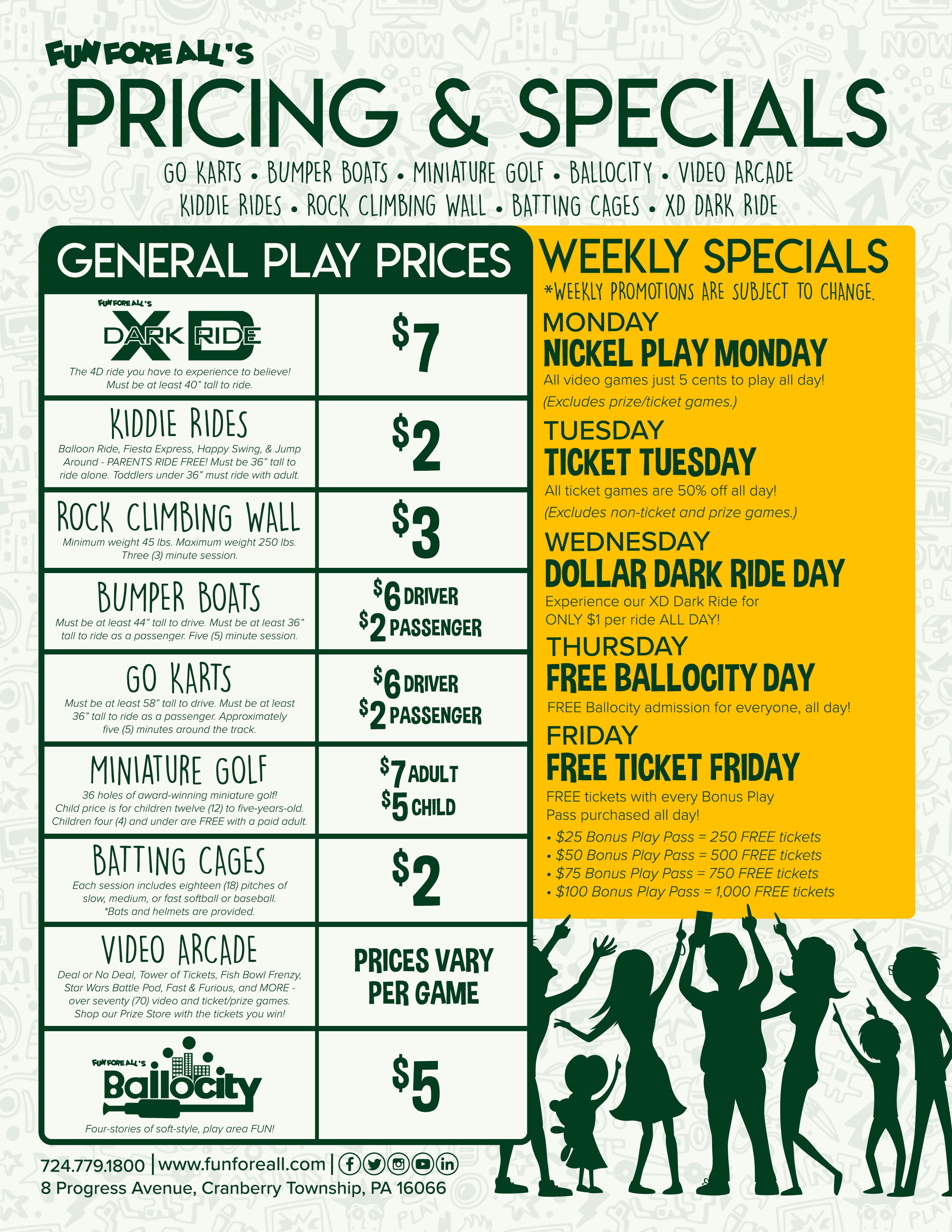GENERAL PRICING FLYER (BACK)
