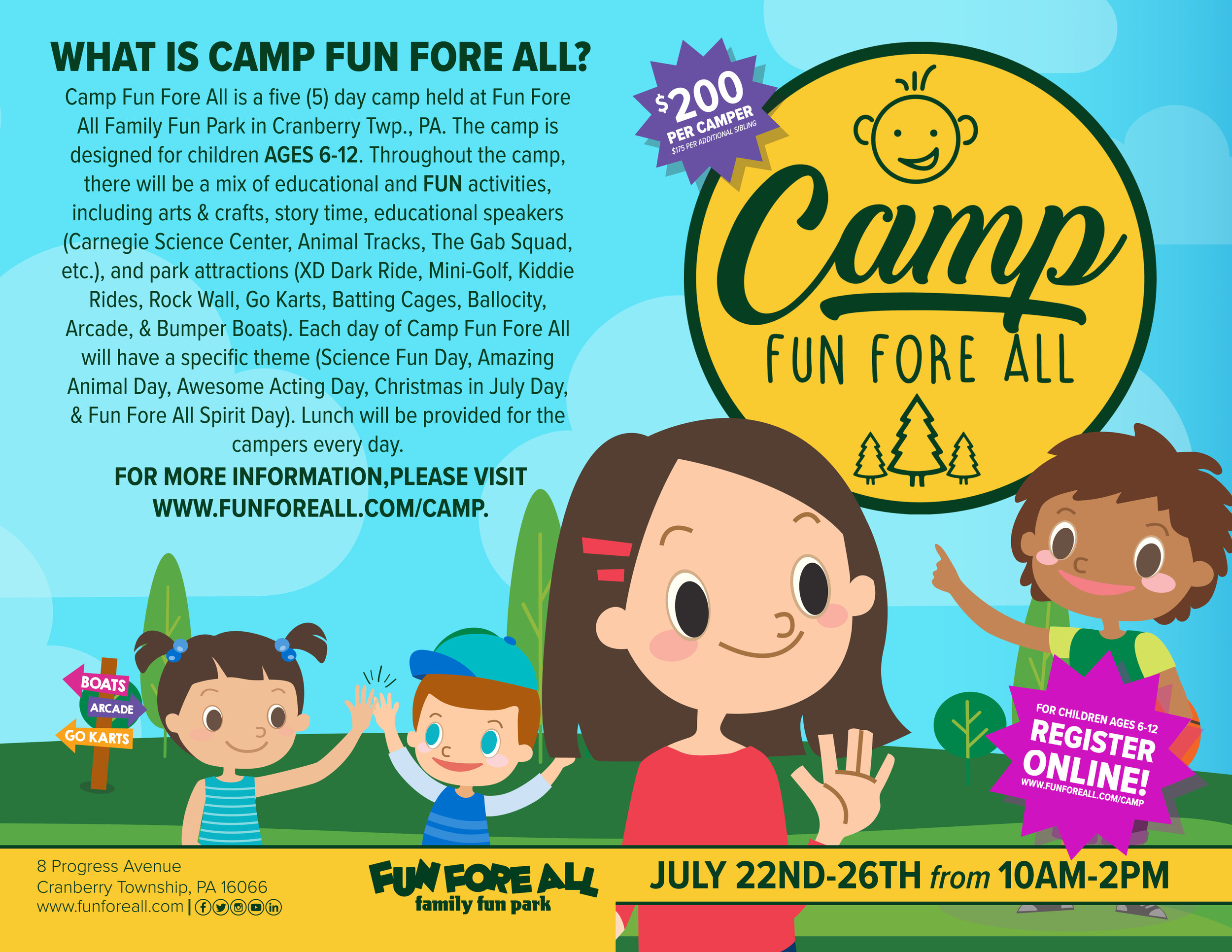 CAMP FUN FORE ALL FLYER (FRONT) 2019