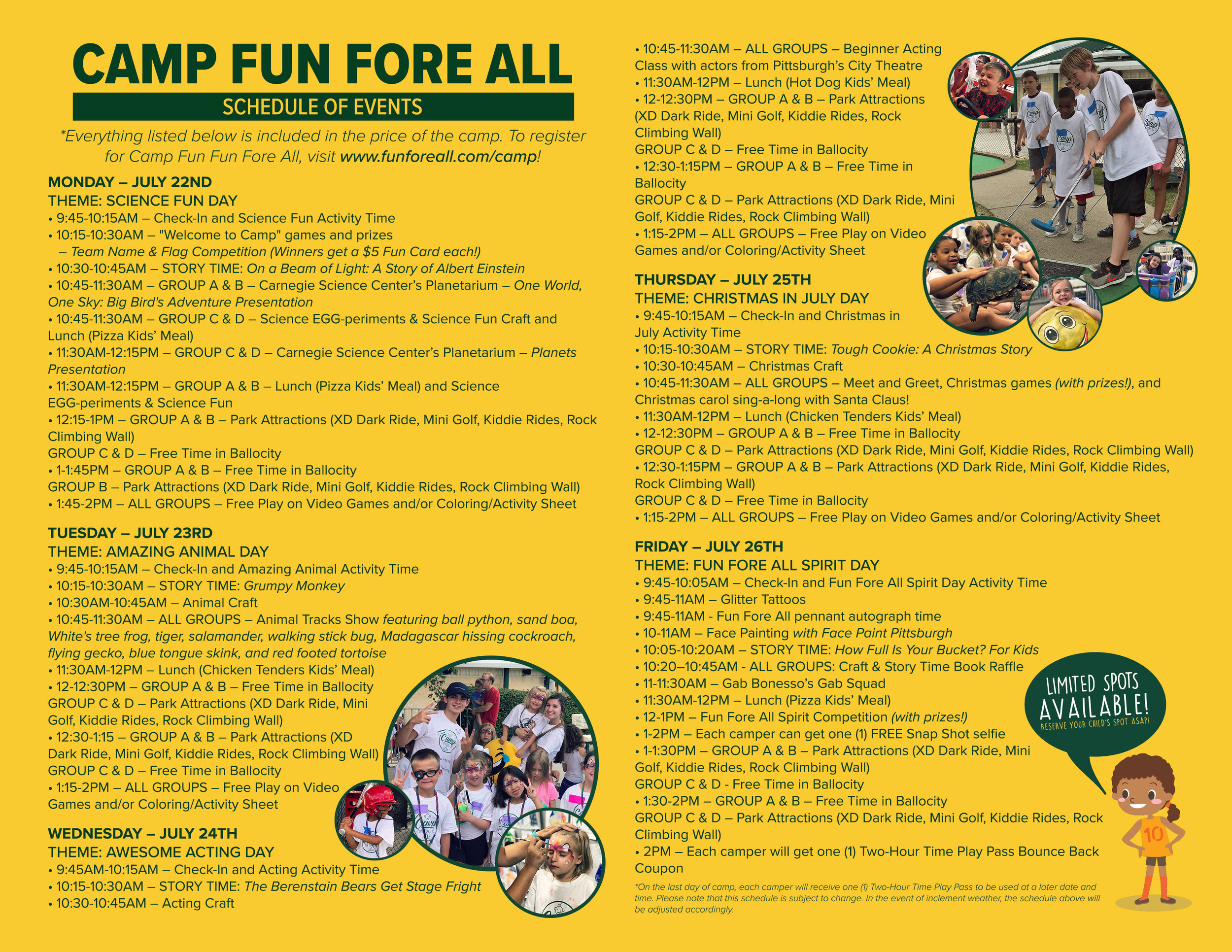 CAMP FUN FORE ALL FLYER (INSIDE) 2019
