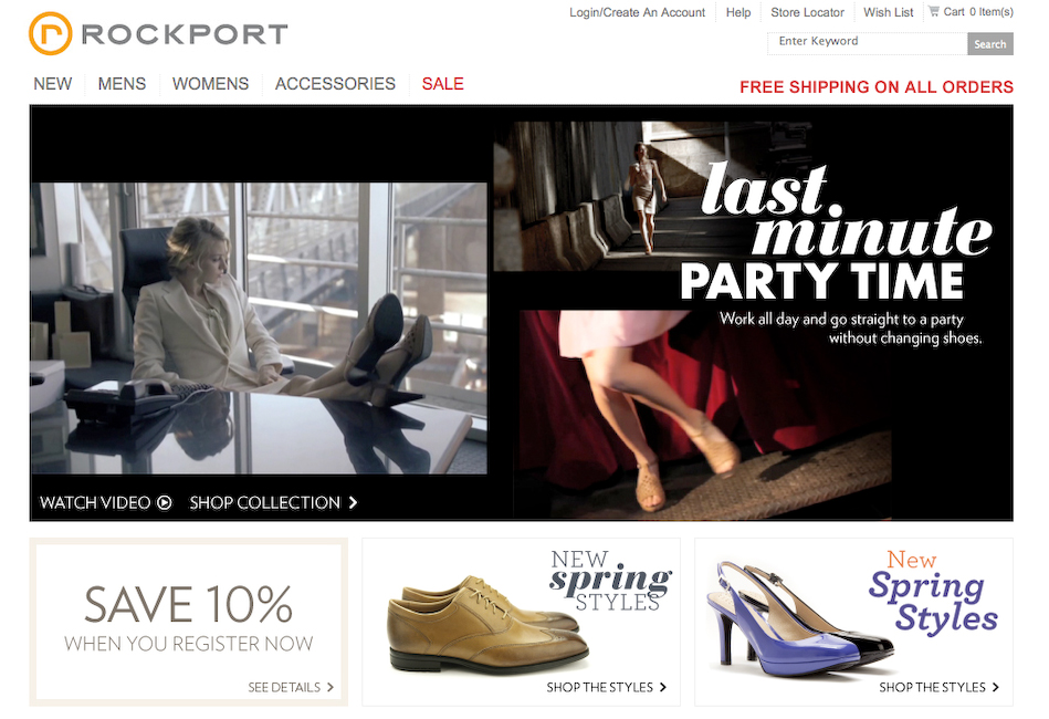 Rockport Shoes | Last Minute Party Time Campaign