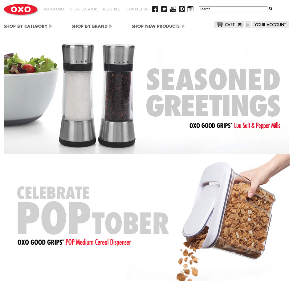 OXO | Web, Advertisement, Consumer Packaging, Image Library