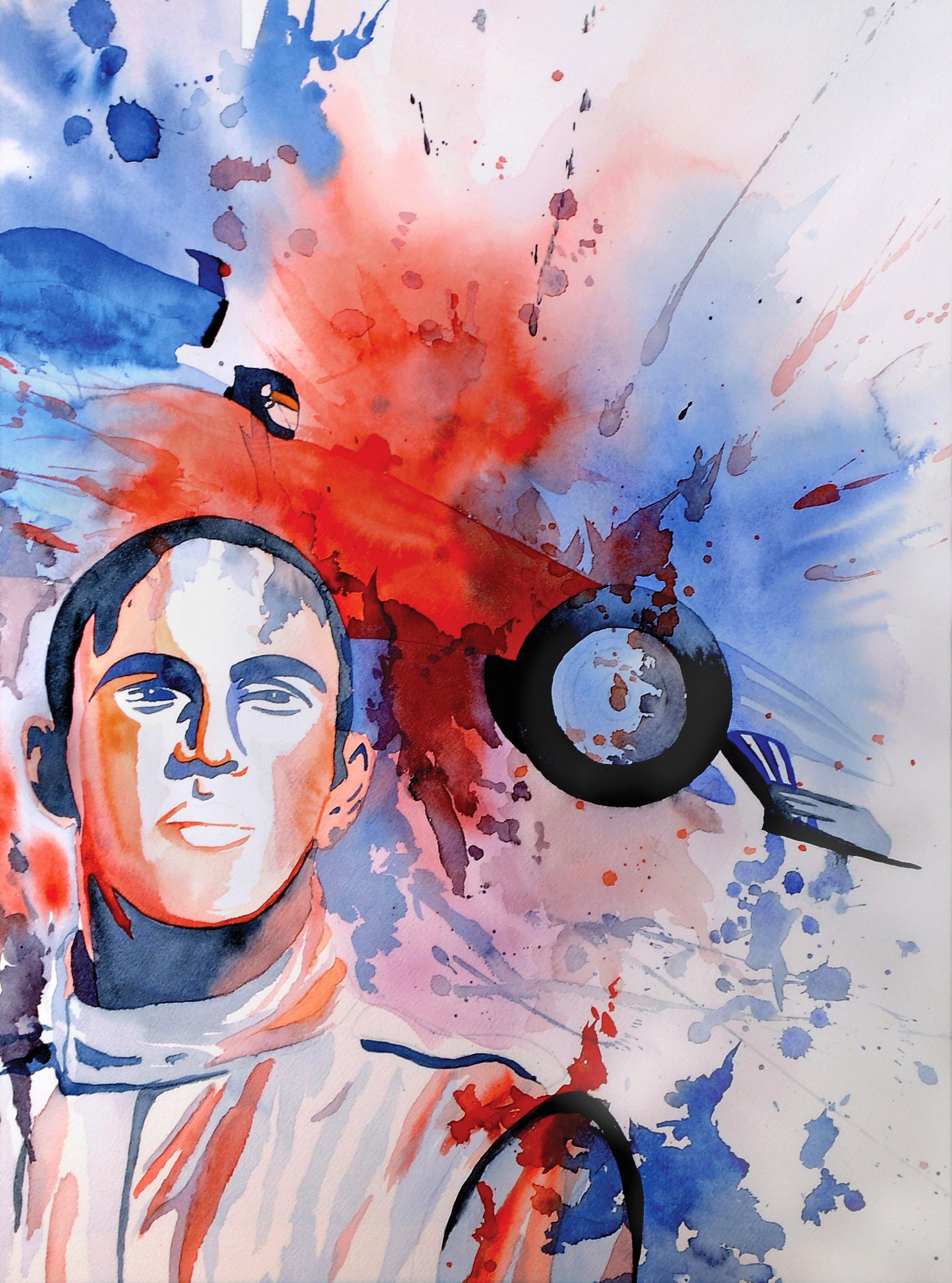 Portrait of Lewis Hamilton