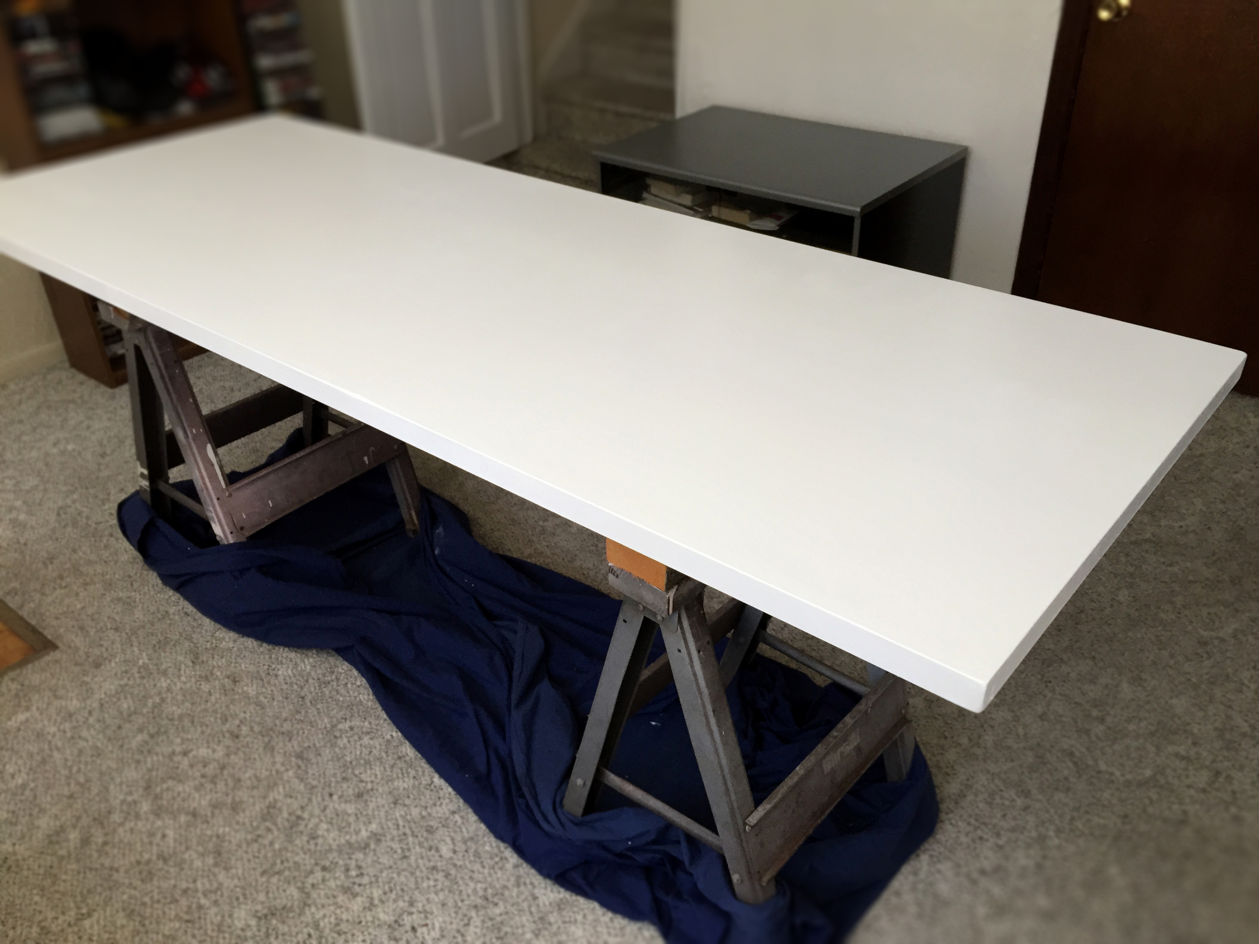 Painting the desk