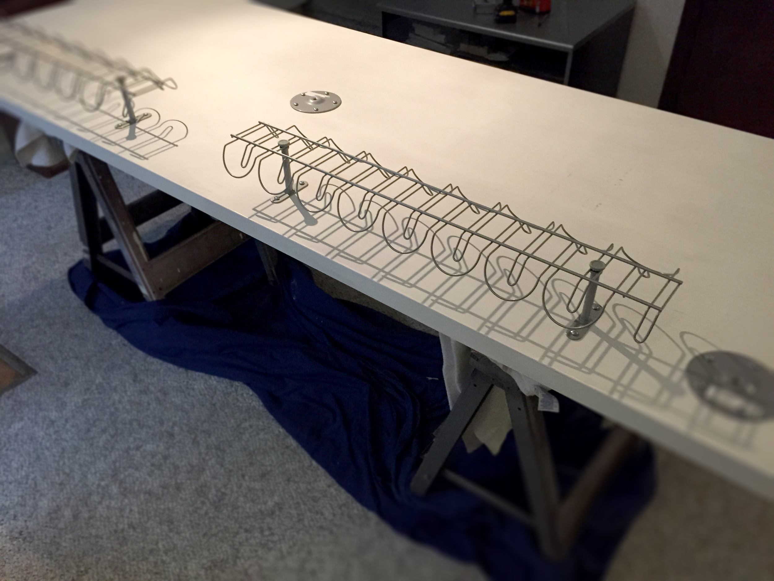 Adding the cable management baskets