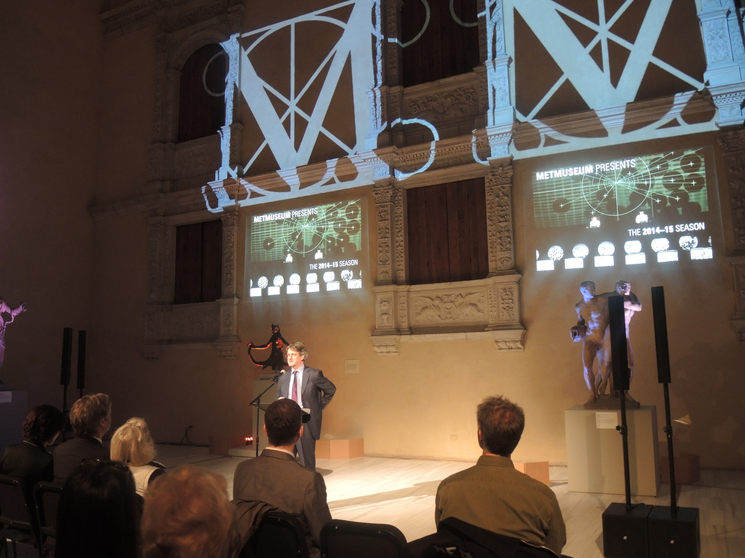 Director Thomas P. Campbell introduces the event