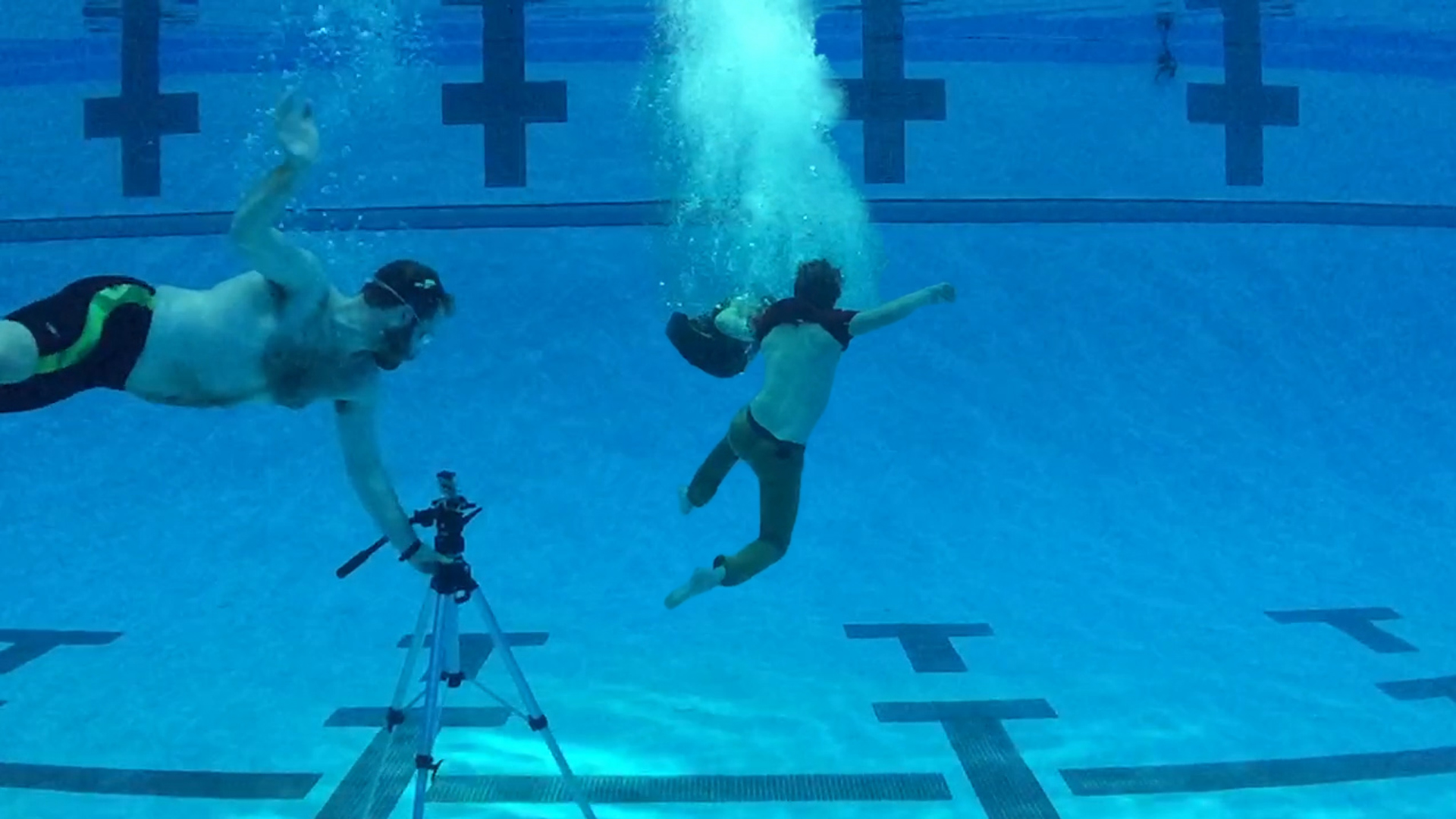 A still from our shoot at Eppley Pool