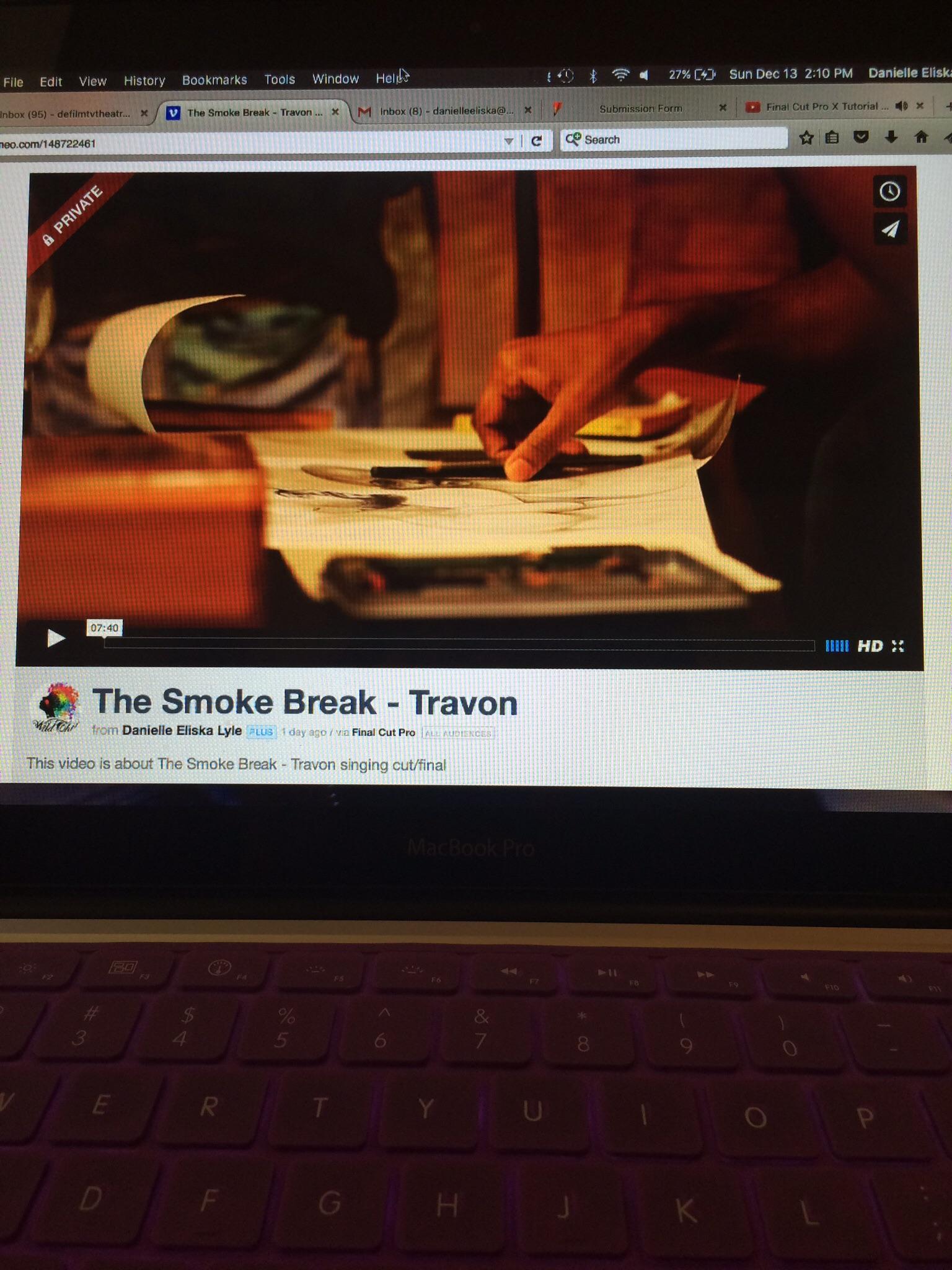 short film, THE SMOKE BREAK by danielle eliska lyle