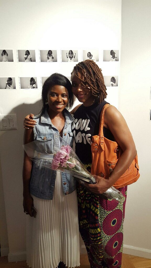 me & one of the actresses, tashion