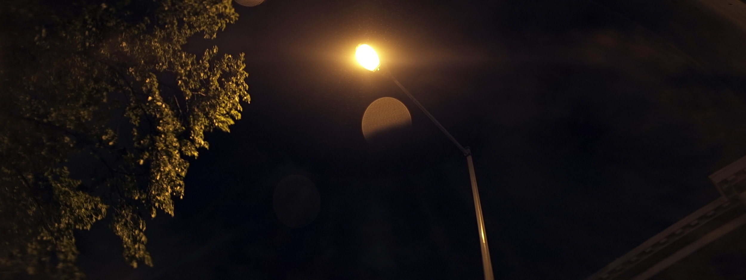Elite 24.5mm anamorphic | Washington D.C. - Street lamp on axis giving a blooming type of horizontal flare. Wide open at T2.1. Photo by Keith Nickoson.