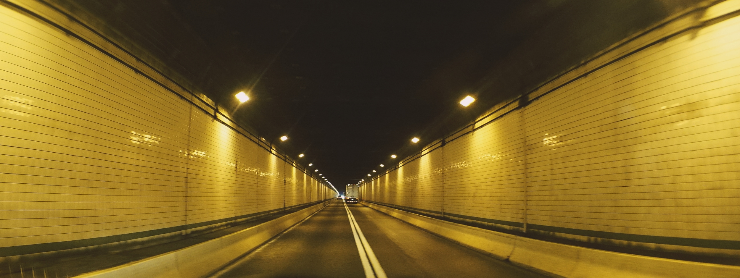 Elite 24.5mm anamorphic | Allegheny Mountain Tunnel - Taken out the front widow of my grip truck. Photo by Olivia Otten.