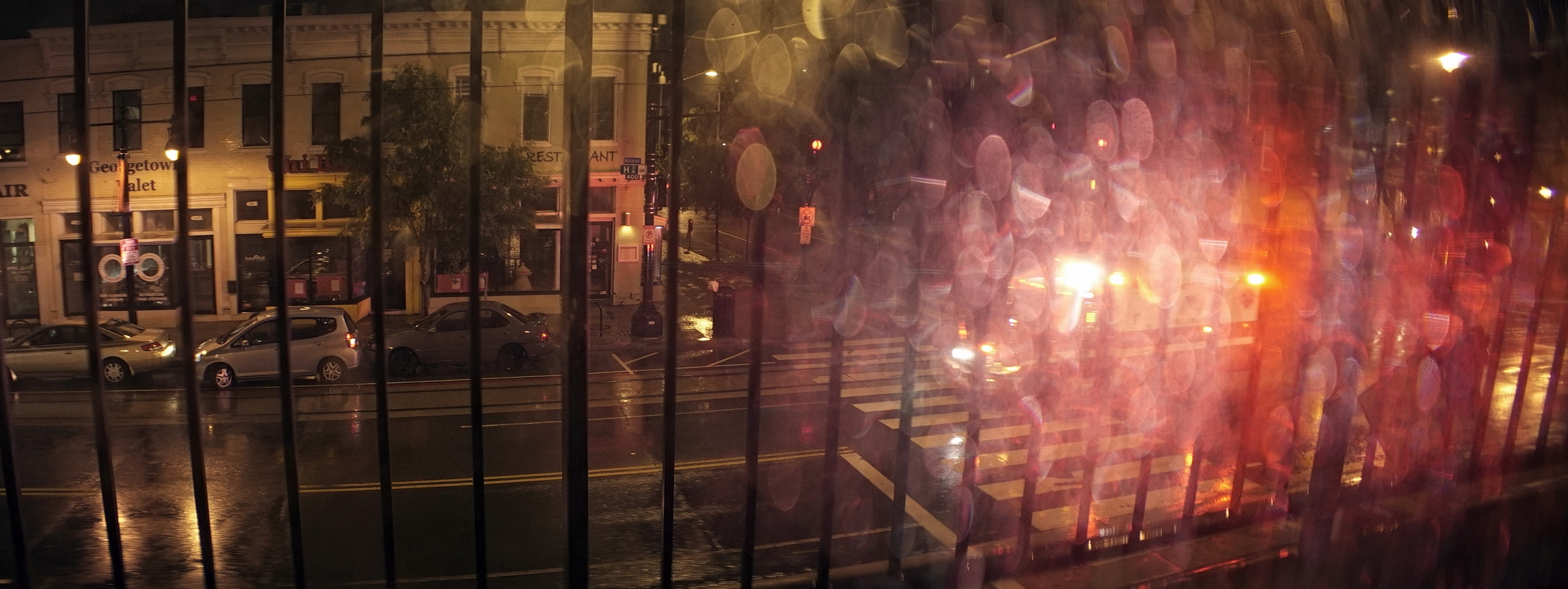 Elite 24.5mm anamorphic | Washington D.C. - An ambulance rushes past a rain-soaked window in Washington D.C. T2.1. Photo by Keith Nickoson.