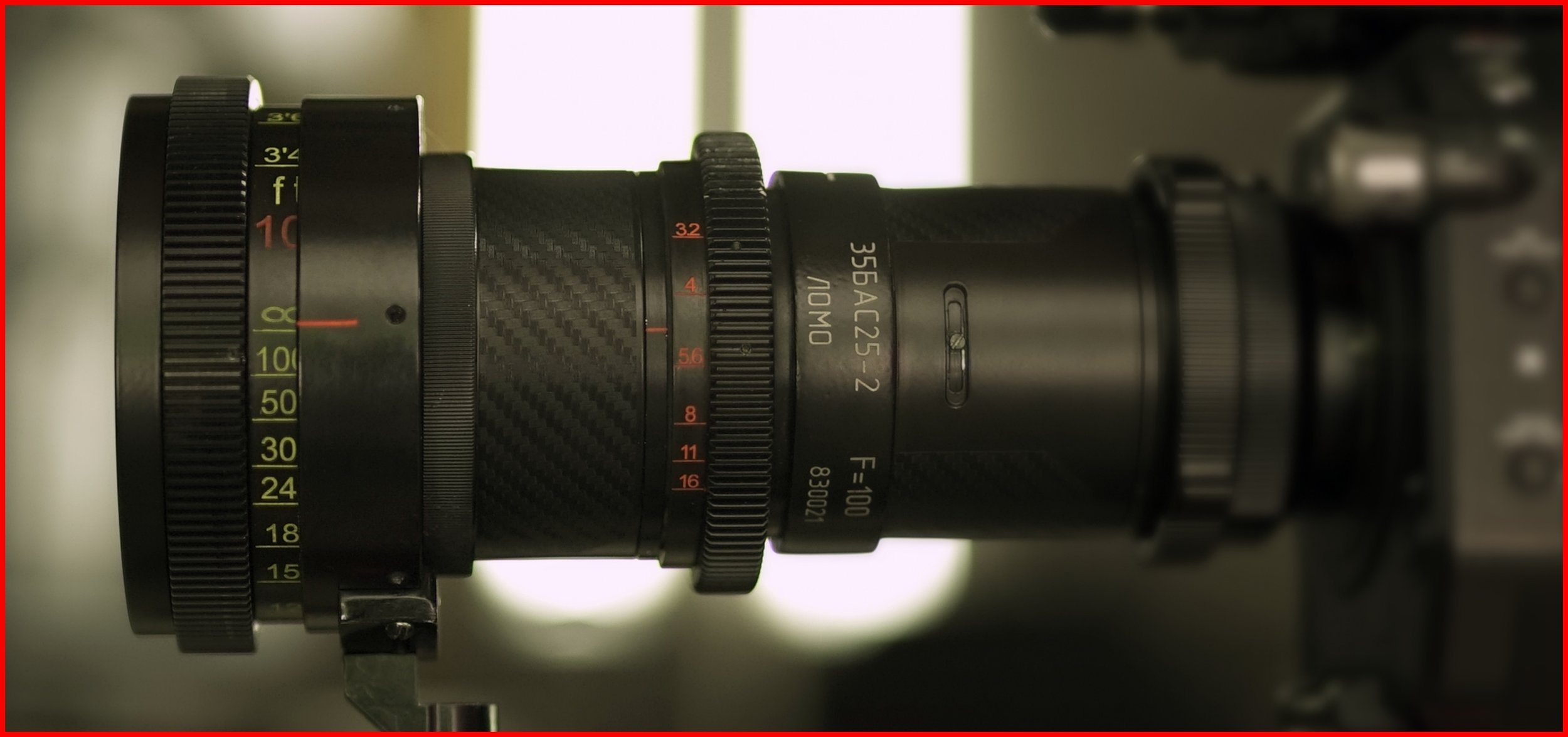 Lomo 100mm Round Front Anamorphic Lens | Photo by: Keith Nickoson