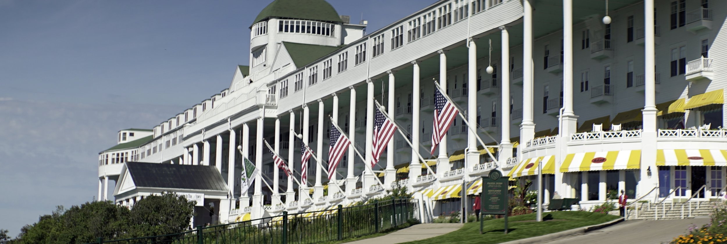 Lomo 100mm anamorphic lens | The Grand Hotel - Mackinac Island, MI. Founded in 1887, and voted one of the top 500 hotels in the world, the Grand Hotel served as one of the major shooting locations in the film Somewhere in Time. Click   HERE   for more information about the hotel. Photo by: Keith Nickoson