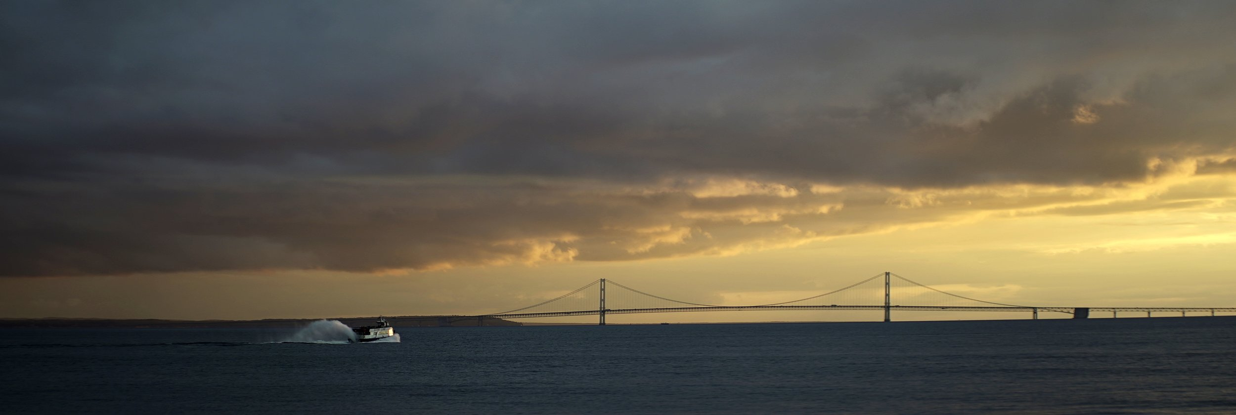 Lomo 100mm anamorphic lens | Mackinac Bridge, MI. Photo by: Keith Nickoson