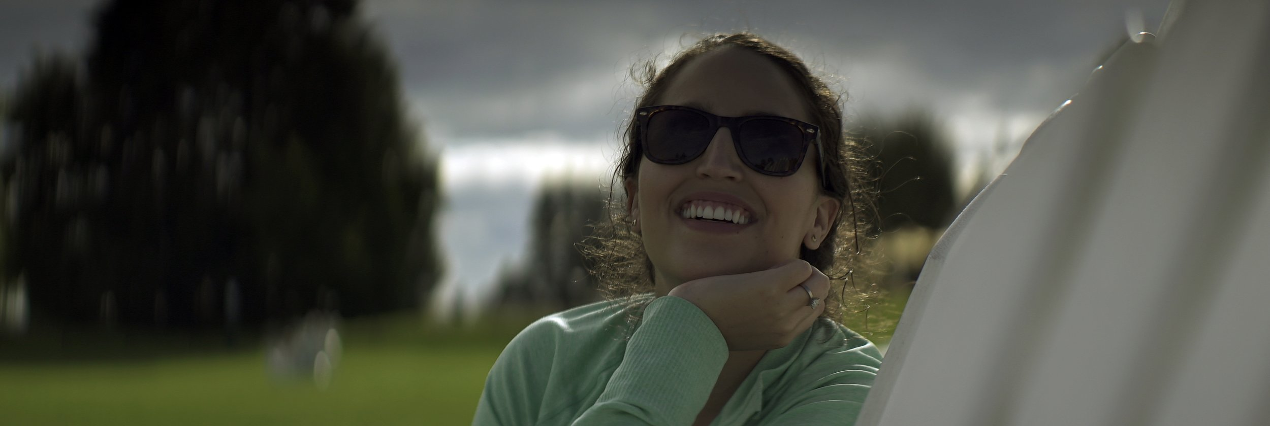 Lomo 100mm anamorphic lens | Olivia catching a nice backlight here at Mission Point Resort - Mackinac Island, MI - Photo by: Keith Nickoson