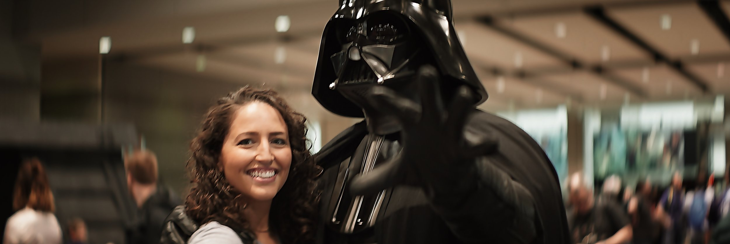 Olivia & Darth Vader