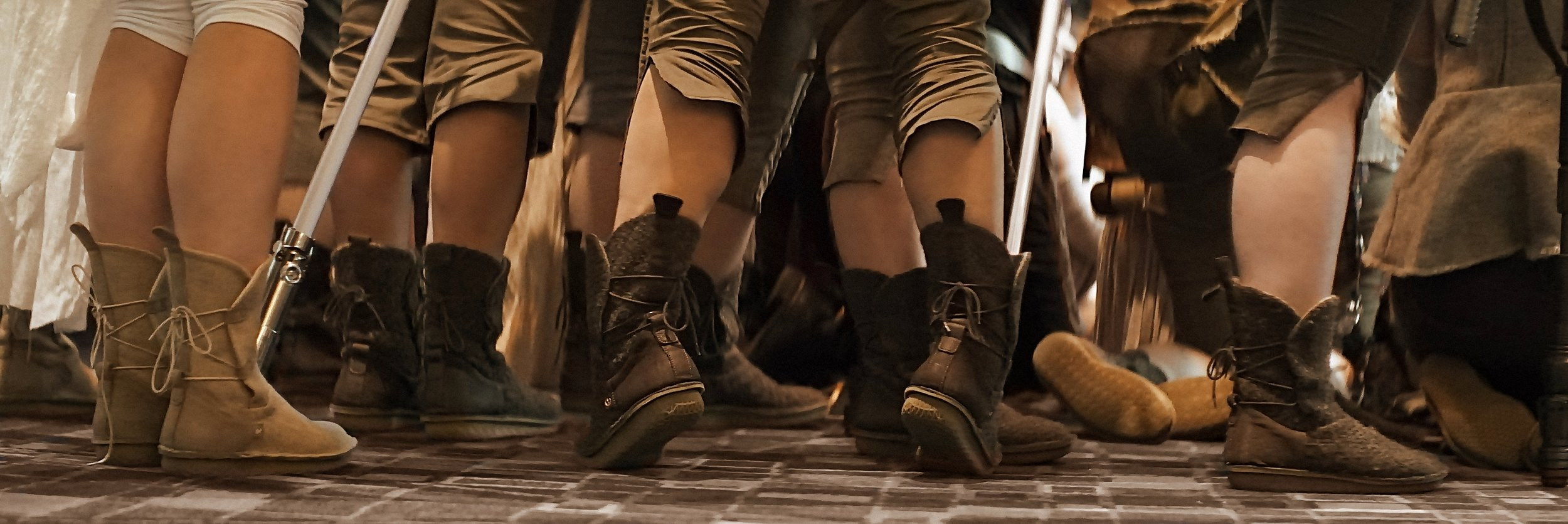 Lomo 75mm Anamorphic Lens | Star Wars Celebration Chicago - SWCC | Rey photo op, and whole bunch of Pozu Piper boots at SWCC. Photo by: Keith Nickoson