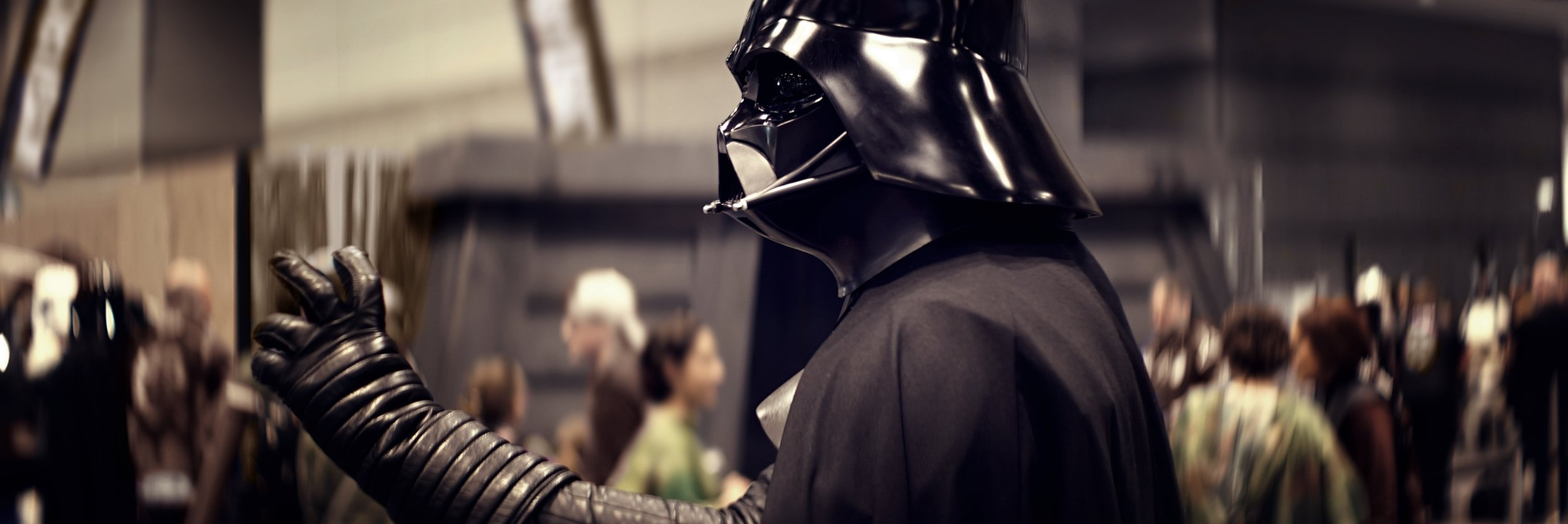 Lomo 75mm Anamorphic Lens | Star Wars Celebration Chicago - SWCC | Darth Vader clearly choking someone across the room. - Photo by: Keith Nickoson