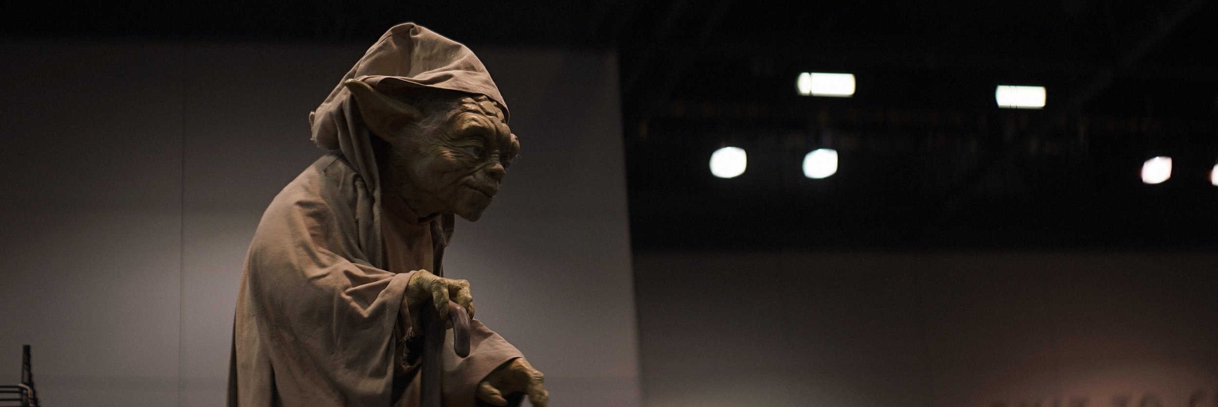 Lomo 75mm Anamorphic Lens | Star Wars Celebration Chicago - SWCC | Hermit Yoda is checking out the crowd. - Photo by: Keith Nickoson