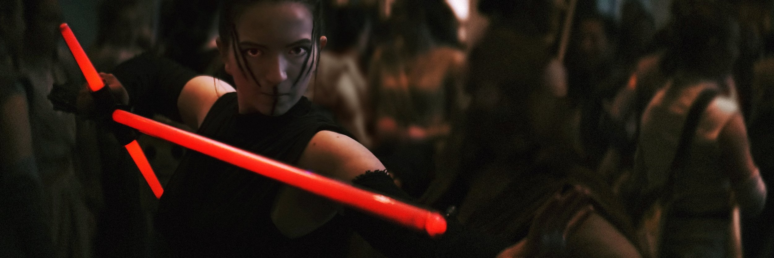 Lomo 75mm Anamorphic Lens | Star Wars Celebration Chicago - SWCC | Dark Rey at the Rey photo op, McCormick Place - Photo by: Keith Nickoson