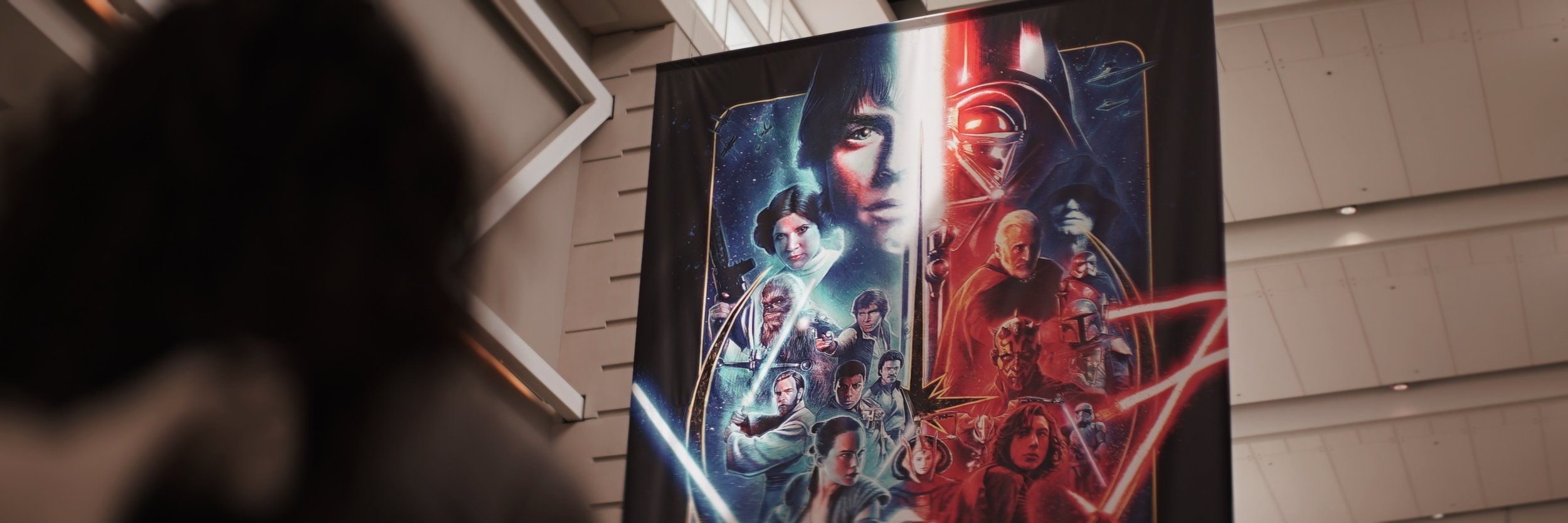 Lomo 75mm Anamorphic Lens | Star Wars Celebration Chicago - SWCC | This sprawling banner greets you in the main hall at McCormick place. - Photo by: Keith Nickoson