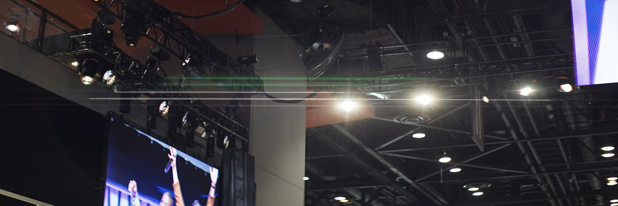 Lomo 75mm Anamorphic Lens | Flares from the Star Wars Show stage lighting. McCormick Place, Chicago, IL. - Photo by: Keith Nickoson