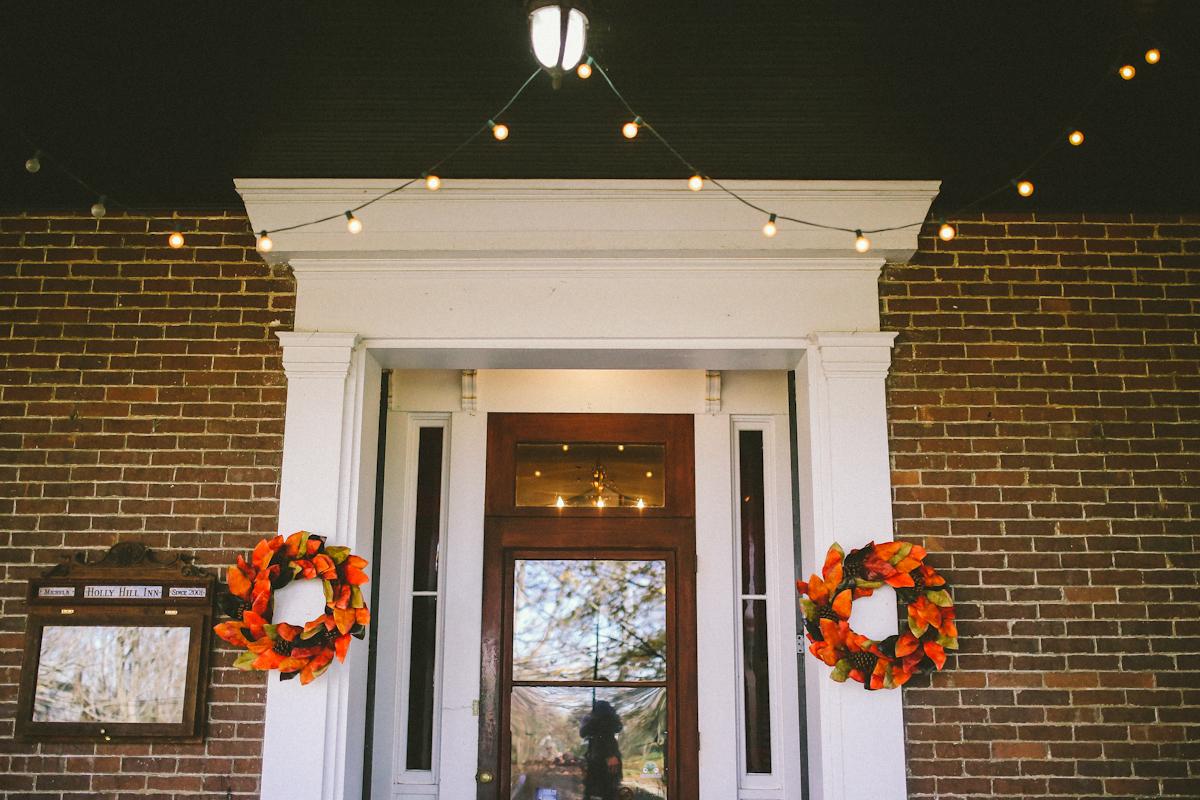 holly hill inn midway wedding wreaths