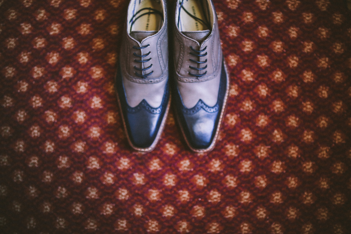 bride shoes wing tip