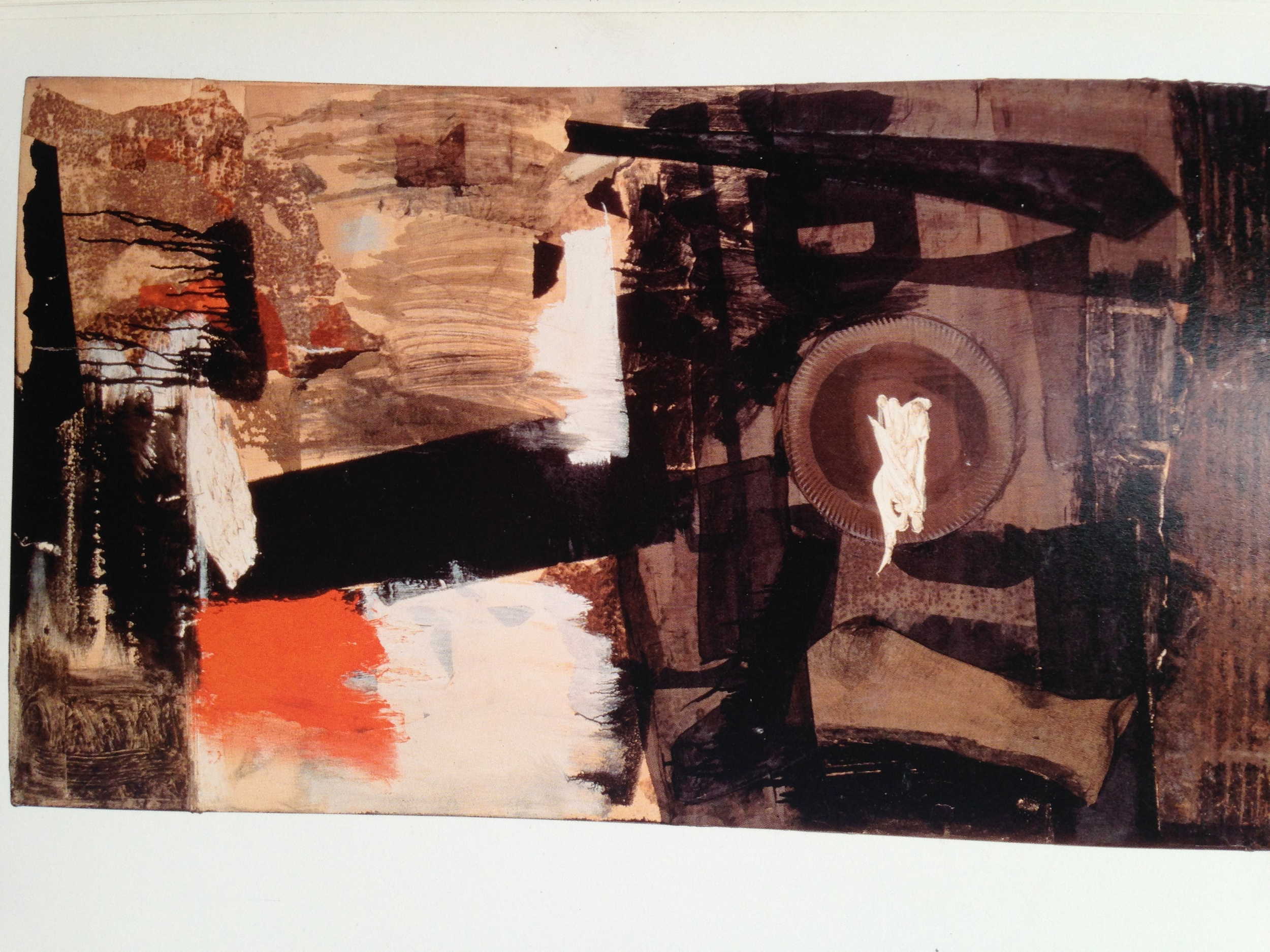 This is a photo of one of Rauschenberg's many artworks. He was hugely prolific and experimental with his work. I think he was somewhat of a genius! I'm a fan, that's for sure...