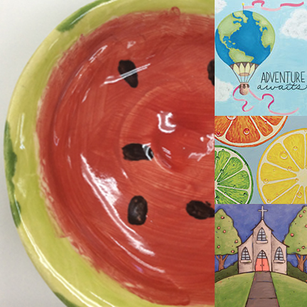 PYOP/CANVAS - Paint Your Own Pottery & Canvas Painting$37.00/personAdult Party Days available: Friday | Saturday | SundayTimes: 11AM | 1:30PMReserve Your Date & Time Today!studio@superawesomecool.comTeam Building Days & Times: Please call 407-720-3699 to reserve your group's day and time.