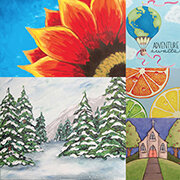 Canvas Painting - Coordinator chooses painting from several optionsArtist led painting lessonPainted by participants at your schoolPre-sketched canvasesCompleted during event for immediate take home$15 per canvas10% returned to your school!