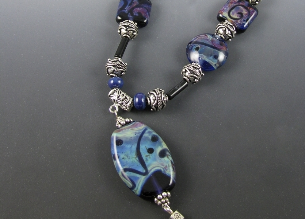 Blue Glass Shards Necklace