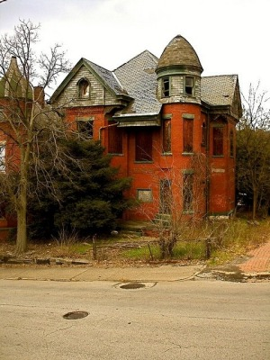 Located in Pennsylvania is one of the grander properties left behind as the town has gradually deteriorated.