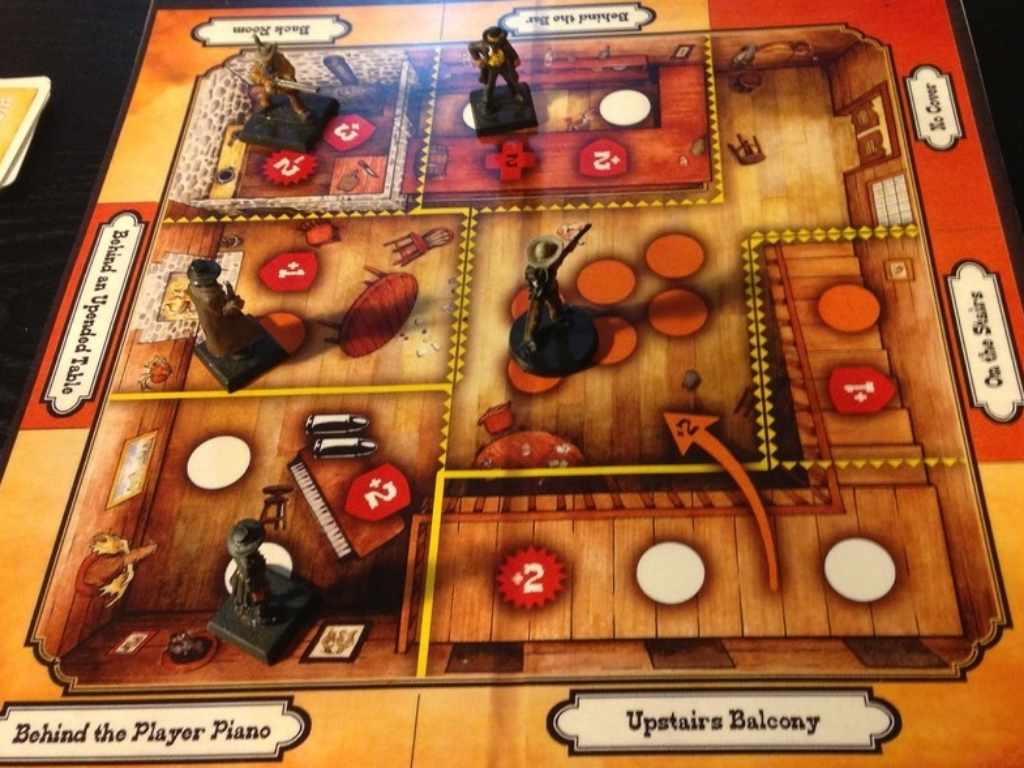 The eponymous saloon map in High noon Saloon ( Juan Carlos Goyes )