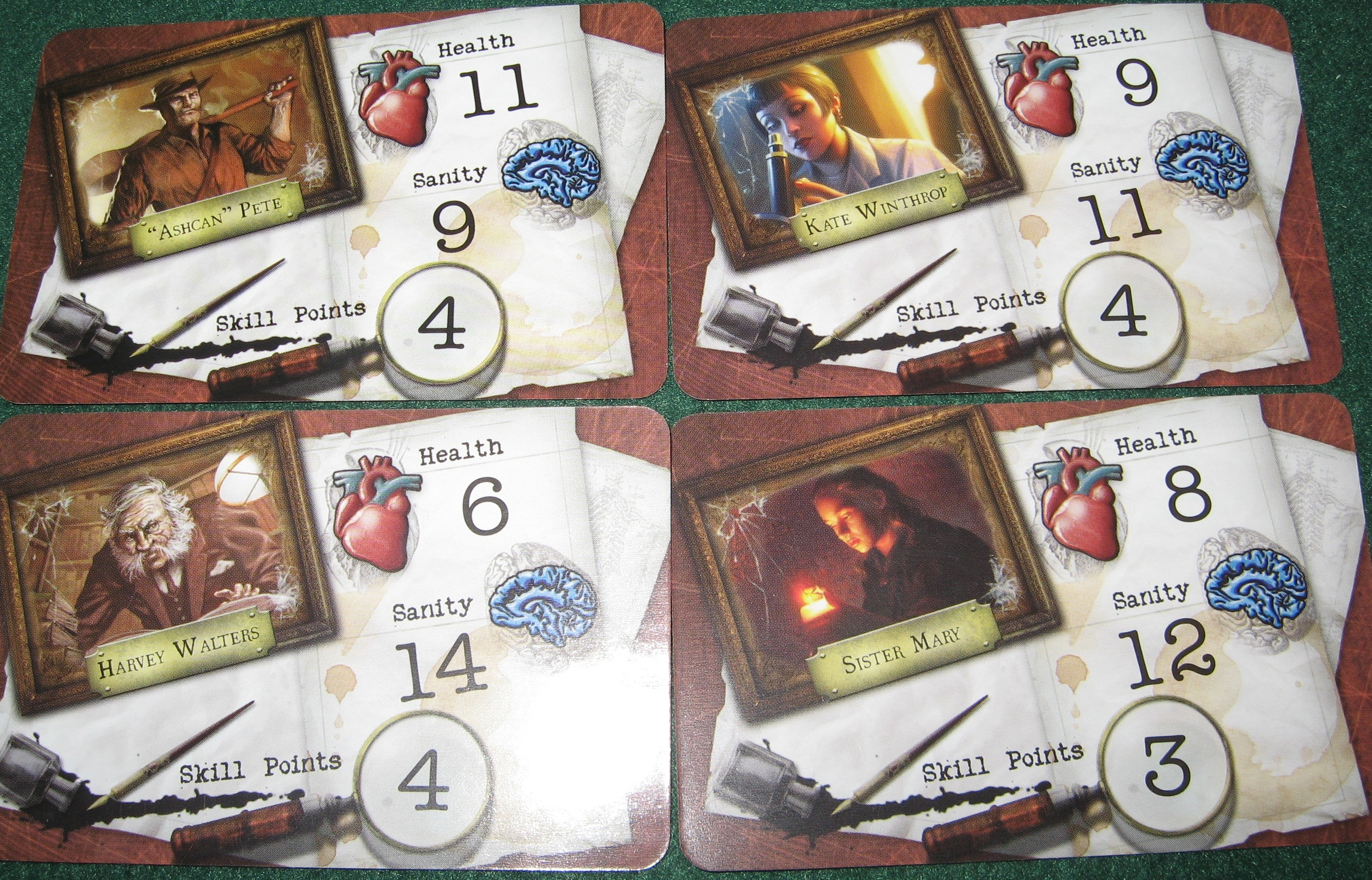 Mansions of Madness  makes character death a constant reality, but tries to mitigate it by letting the player bring a new character into the game if their's died. ( The Innocent )